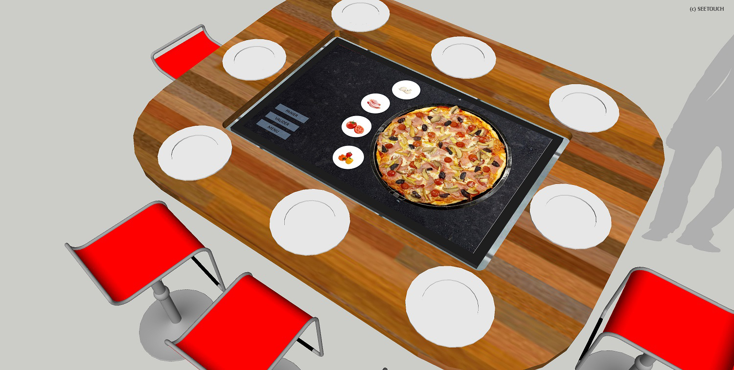 Table tactile pizzeria