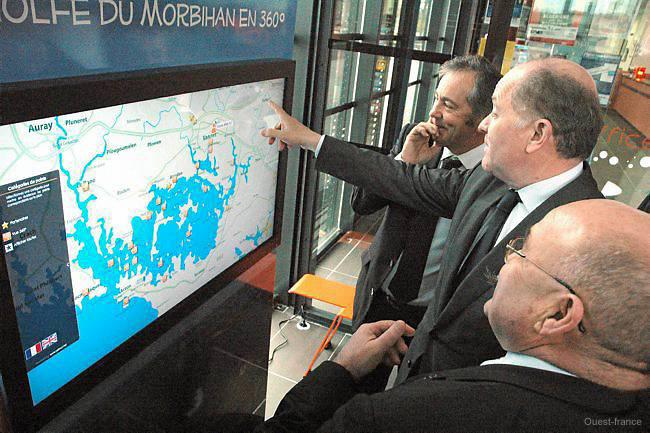 Plan interactif touristique