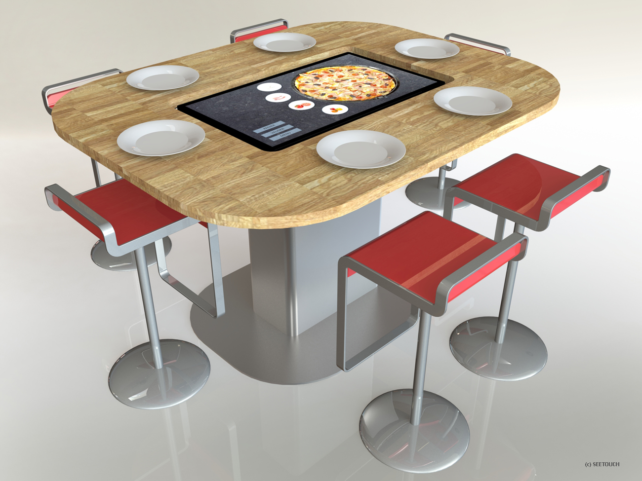 Table tactile pizzeria 42 pouces